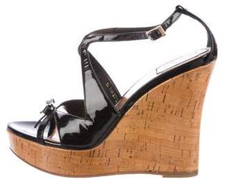 Christian Dior Platform Wedge Sandals