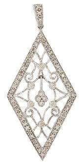 14K Diamond Filigree Pendant