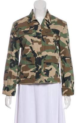 RtA Denim Camouflage Casual Jacket