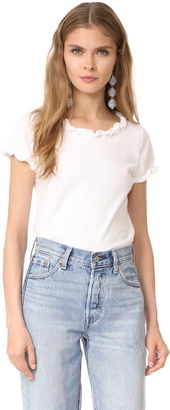 La Vie Rebecca Taylor Short Sleeve Ruffle Tee $125 thestylecure.com