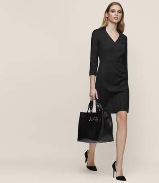 Reiss HUXLEY LS DRESS TAILORED DRESS Black