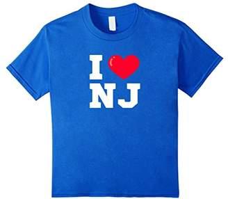 I Heart NJ Athletic Font T-Shirt