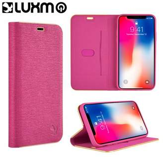 Luxmo Leather Flip Wallet iPhone X Wallet Case - Hot Pink