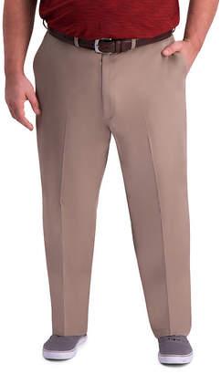 Haggar Mens Premium Comfort Khaki Classic Fit Flat Front - Big & Tall pant