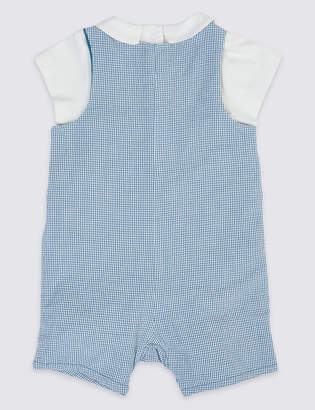 07e874118ea2 Marks and Spencer 2 Piece Peter Rabbit Dungarees with Bodysuit