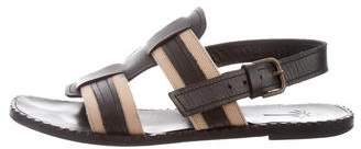 Tomas Maier Canvas & Leather Sandals