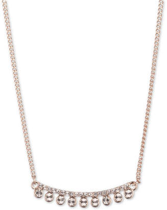 "DKNY Rose Gold-Tone Crystal 16"" Collar Necklace"