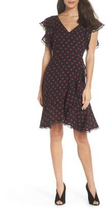 BB Dakota Ring the Alarm Printed Dot Fit & Flare Dress