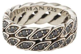 David Yurman Diamond Curb Chain Ring