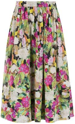 Andrea Marques ruched midi skirt
