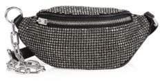 Alexander Wang Women's Mini Attica Soft Leather Rhinestone Belt Bag - Black