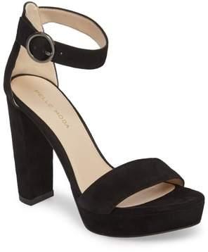 7aee099dee9 Pelle Moda Black Platform Heel Women s Sandals - ShopStyle