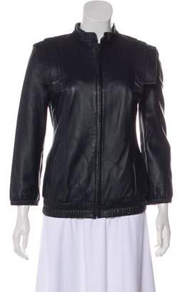 Loeffler Randall Zip-Up Leather Jacket