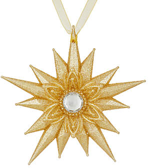 John Lewis Gold Glitter Starburst Tree Decoration, Gold