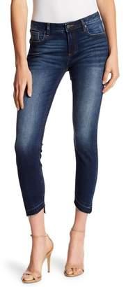 Miss Me Asymmetrical Hem Ankle Skinny Jeans