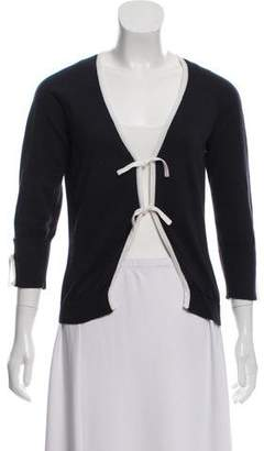 Valentino Knit Tie-Accented Cardigan