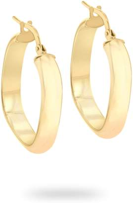 ce965877b 9ct Yellow Gold Square Creole Hoop Earrings
