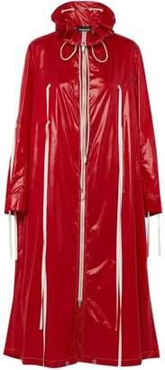 Calvin Klein Tie-Detailed Coated-Shell Raincoat
