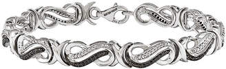 Black Diamond FINE JEWELRY 1/2 CT. T.W. White and Color-Enhanced Sterling Silver Tennis Bracelet