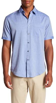 James Campbell Barnes Short Sleeve Stripe Regular Fit Shirt