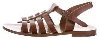 Saint Laurent Toscano Leather Sandals