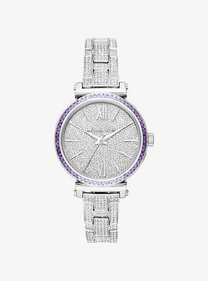Michael Kors Mini Sofie Pave Silver-Tone Watch
