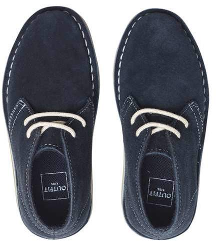 **Boys Navy Suede Desert Boots (18 months - 6 years)