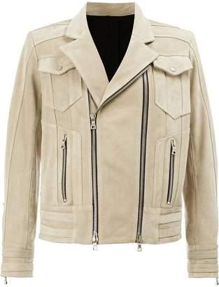 Balmain double zipped biker jacket