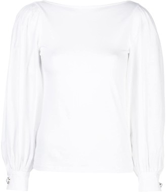 Mother of Pearl puffed sleeve blouse