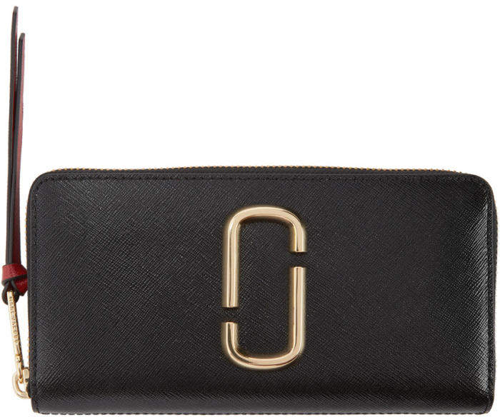 Marc Jacobs Black Snapshot Continental Wallet