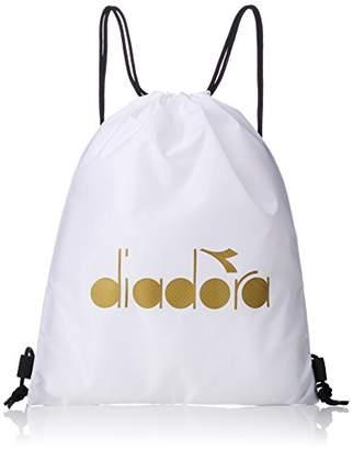 Diadora (ディアドラ) - [ディアドラ]DTB8637 ランドリーバッグ ホワイト/ゴールド