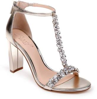 Badgley Mischka Morley Embellished Block Heel Sandal