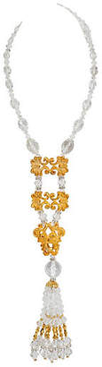 One Kings Lane Vintage Vrba Golden Lucite Necklace