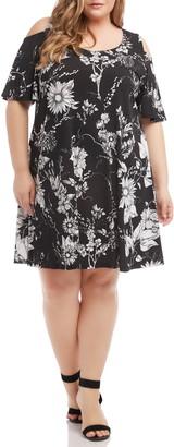 Karen Kane Floral Cold Shoulder Swing Dress
