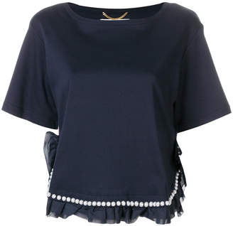 Muveil pearl embellished T-shirt