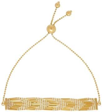 Saks Fifth Avenue 14K PDC Yellow Gold Beaded Arrow Patterned Bracelet