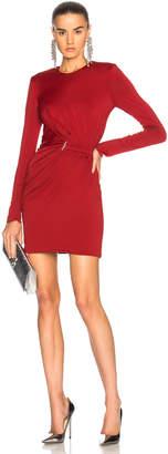 Thierry Mugler Fluid Jersey Long Sleeve Mini Dress