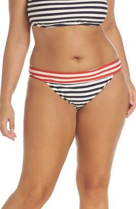 J.Crew Stripe Banded Bikini Bottoms