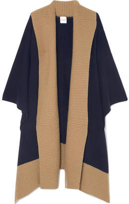 Madeleine Thompson Narvi Wool And Cashmere-blend Wrap - Navy