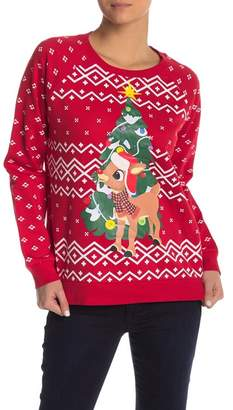 Freeze Rudolph Light Up Sweater