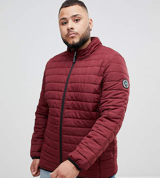 BadRhino Big Padded Quilted Jacket In Burgundy