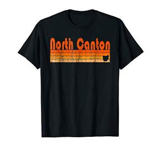 Retro 80s Style North Canton OH T-Shirt
