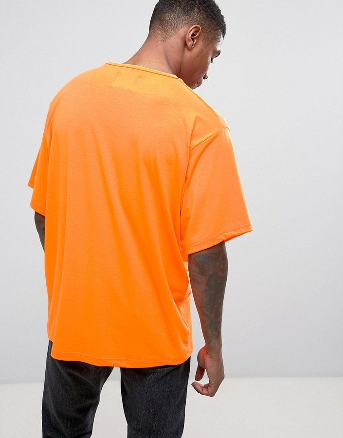 Granted Oversized T-Shirt In Neon Orange 3