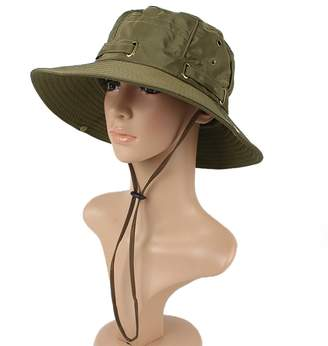 JURUAA Women Summer Bucket UV Sun Block Beach Hat 7531fff40b08