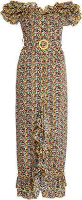 Gl Hrgel Flower Print Ruffle Dress