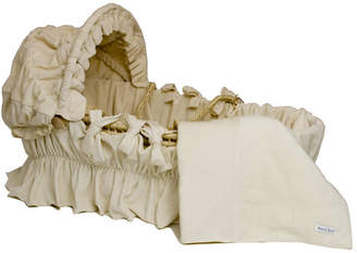 Wendy Anne Ivory Velour Cotton Moses Basket Blanket