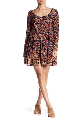 Raga Patterned Front Slit Dress