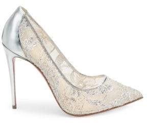 Christian Louboutin Pigalles Follies 100 Lurex Lace Pumps