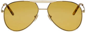 Gucci Gold Cruise Pilot Sunglasses