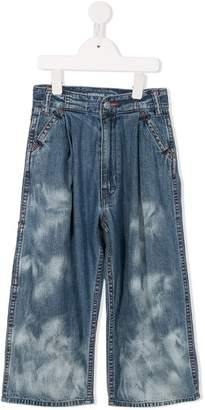 Go To Hollywood bleached effect flared jeans